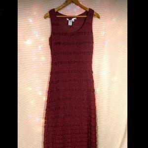 Max Studio Lace Ruffle Maxi Dress